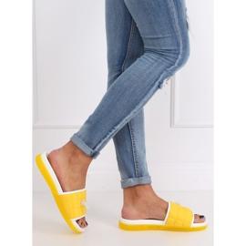 Klapki damskie żółte G-338 Yellow 2