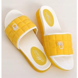 Klapki damskie żółte G-338 Yellow 3
