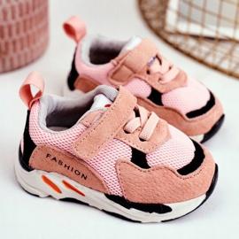 Apawwa Sportowe Buty Dziecięce na Rzep Różowe Yetto 3