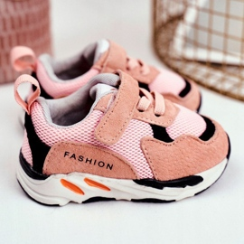 Apawwa Sportowe Buty Dziecięce na Rzep Różowe Yetto 1
