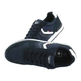 NEWS buty sportowe męskie 20MN20-2150 białe granatowe 4