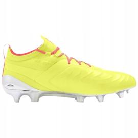 Buty piłkarskie Puma One 20.1 M Fg Ag 105956 01 żółte szare 2