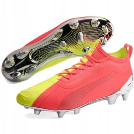 Buty piłkarskie Puma One 20.1 M Fg Ag 105956 01 żółte szare 3