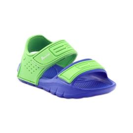 American Club sandałki do wody niebieskie zielone 1