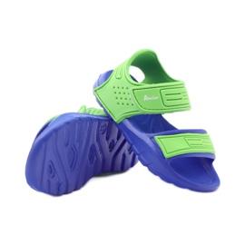 American Club sandałki do wody niebieskie zielone 3