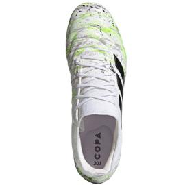 Buty piłkarskie adidas Copa 20.1 Fg M G28639 białe wielokolorowe 2
