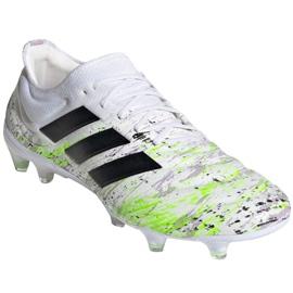Buty piłkarskie adidas Copa 20.1 Fg M G28639 białe wielokolorowe 3