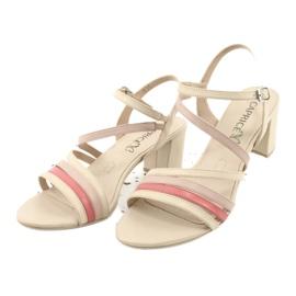 Caprice sandały buty damskie 28304 beżowy czerwone 2