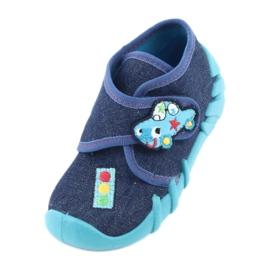 Befado obuwie dziecięce 523P015 granatowe niebieskie 2