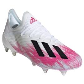 Buty piłkarskie adidas X 19.1 Sg M EG7143 wielokolorowe białe 3