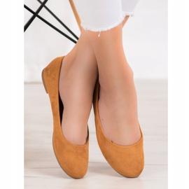 Best Shoes Zamszowe Baleriny brązowe 5