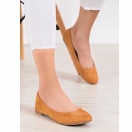 Best Shoes Zamszowe Baleriny brązowe 6
