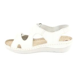 Inblu obuwie damskie sandały 158D113 białe 2