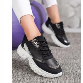 Mckeylor Modne Sneakersy czarne 4