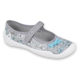 Befado obuwie dziecięce 114Y408 niebieskie szare 1