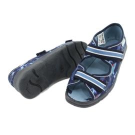 Befado obuwie dziecięce 969Y156 granatowe niebieskie 6