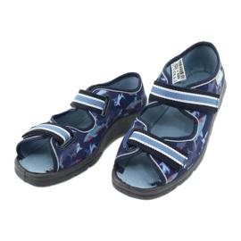 Befado obuwie dziecięce 969Y156 granatowe niebieskie 4