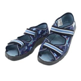 Befado obuwie dziecięce 969Y156 granatowe niebieskie 5