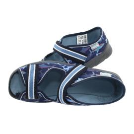 Befado obuwie dziecięce 969Y156 granatowe niebieskie 7