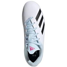 Buty piłkarskie adidas X 19.4 FxG Jr EF1616 białe wielokolorowe 1