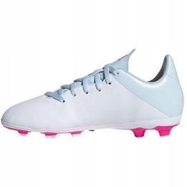 Buty piłkarskie adidas X 19.4 FxG Jr EF1616 białe wielokolorowe 2