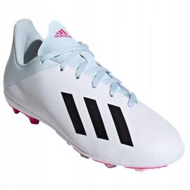 Buty piłkarskie adidas X 19.4 FxG Jr EF1616 białe wielokolorowe 3