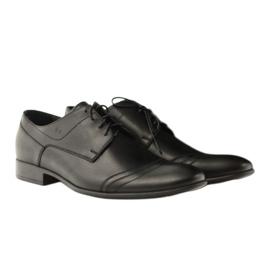 Półbuty buty męskie ze skóry Pilpol 1099 czarne 5