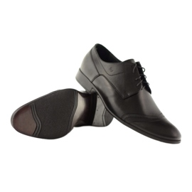 Półbuty buty męskie ze skóry Pilpol 1099 czarne 4