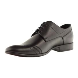 Półbuty buty męskie ze skóry Pilpol 1099 czarne 2