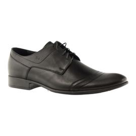 Półbuty buty męskie ze skóry Pilpol 1099 czarne 1