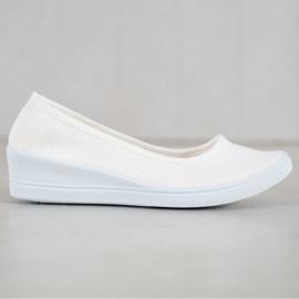 SHELOVET Białe Casualowe Baleriny 4