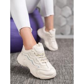 SHELOVET Sznurowane Sneakersy białe 6