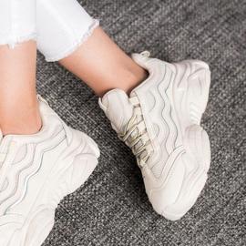 SHELOVET Sznurowane Sneakersy białe 3