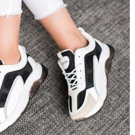 Via Giulia  Sneakersy Z Brokatem Fashion białe czarne 1