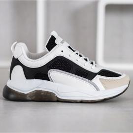 Via Giulia  Sneakersy Z Brokatem Fashion białe czarne 3