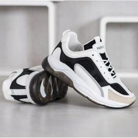 Via Giulia  Sneakersy Z Brokatem Fashion białe czarne 4