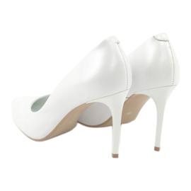 Czółenka na szpilce biała perła Espinto C-602/134 białe 3