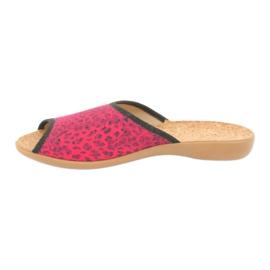 Befado obuwie damskie pu 254D112 czerwone 2