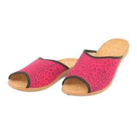 Befado obuwie damskie pu 254D112 czerwone 3