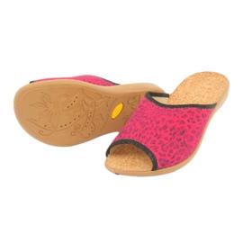 Befado obuwie damskie pu 254D112 czerwone 4