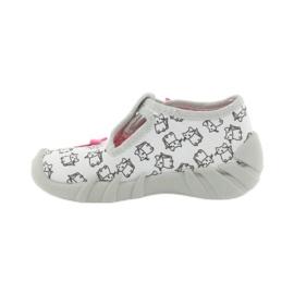 Befado obuwie dziecięce 110P377 różowe szare 2