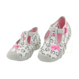 Befado obuwie dziecięce 110P377 różowe szare 3