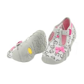 Befado obuwie dziecięce 110P377 różowe szare 4