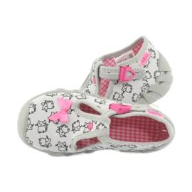 Befado obuwie dziecięce 110P377 różowe szare 5