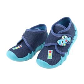Befado obuwie dziecięce 523P015 granatowe niebieskie 3