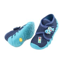 Befado obuwie dziecięce 523P015 granatowe niebieskie 4