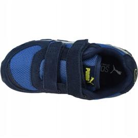 Buty Puma Vista V Infants Jr 369541-09 białe granatowe niebieskie 2