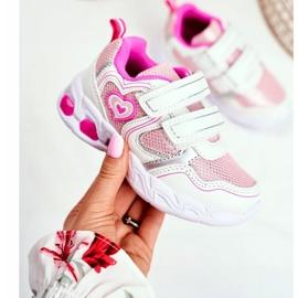 EVE Sportowe Buty Dziecięce Świecące Na Rzepy Białe Scarlet 2