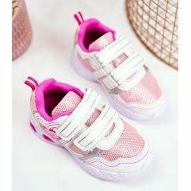EVE Sportowe Buty Dziecięce Świecące Na Rzepy Białe Scarlet 3