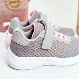 EVE Sportowe Buty Dziecięce Na Rzepy Szare Mirabell 4